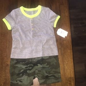 Baby Gap one piece camp outfit